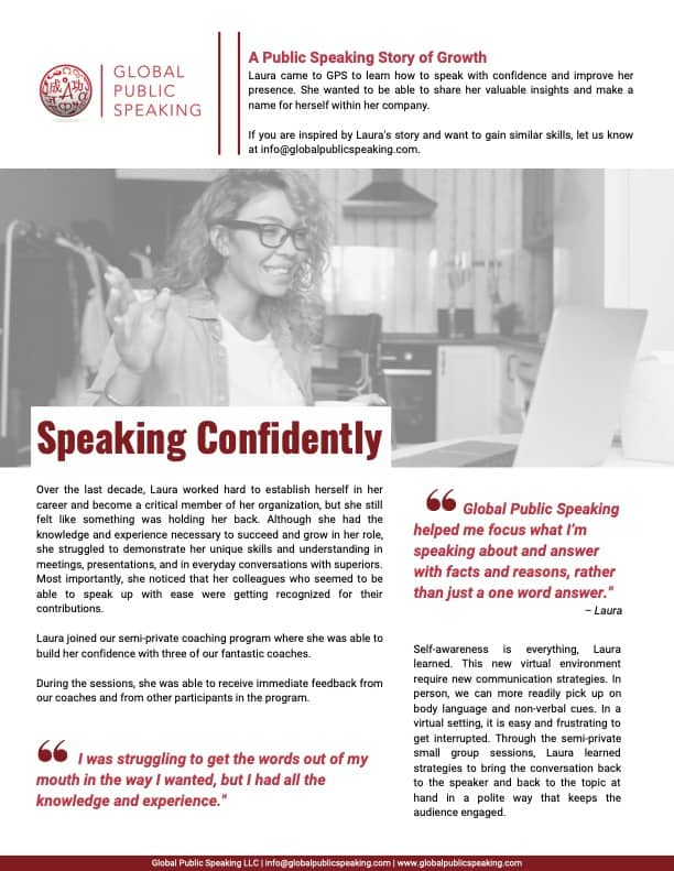 GPS Case Study_Speaking Confidently first page